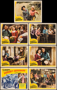 """Sunset Serenade (Republic, 1942). Title Lobby Card & Lobby Cards (6) (11"""" X 14""""). Western. ... (Total:..."""