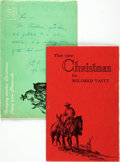 Books:Americana & American History, [Texana]. J. Evetts Haley. Carl Hertzog, typography. SIGNED. H. D.Bugbee, illustrator. Then Came Christmas for Mildred ...