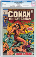 Bronze Age (1970-1979):Adventure, Conan the Barbarian #1 (Marvel, 1970) CGC NM+ 9.6 White pages....