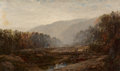Fine Art - Painting, American:Antique  (Pre 1900), William Louis Sonntag (American, 1822-1900). RiverLandscape. Oil on canvas. 12 x 20 inches (30.5 x 50.8 cm).Signed low...