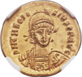 Ancients:Roman Imperial, Ancients: Theodosius II (AD 402-450). AV solidus (21mm, 4.46 gm,6h)....