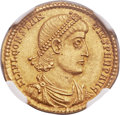 Ancients:Roman Imperial, Ancients: Constantius II (AD 337-361). AV solidus (21mm, 4.38 gm, 11h)....
