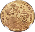 Ancients:Byzantine, Ancients: Constans II Pogonatus (AD 641-668), with Constantine IV.AV solidus (20mm, 4.50 gm, 6h)....