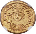 Ancients:Byzantine, Ancients: Maurice Tiberius (AD 582-602). AV solidus (18mm, 4.46 gm,6h)....