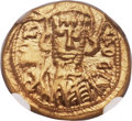 Ancients:Byzantine, Ancients: Constantine IV (AD 668-685), with Heraclius and Tiberius.AV solidus (14mm, 4.28 gm, 7h)....