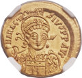 Ancients:Byzantine, Ancients: Anastasius I (AD 491-518). AV solidus (21mm, 4.47 gm,6h)...