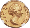 Ancients:Roman Imperial, Ancients: Diva Faustina Senior, wife of Antoninus Pius (died AD140/1). AV aureus (19mm, 6.92 gm, 6h)....