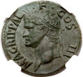 Ancients:Roman Imperial, Ancients: Marcus Agrippa, friend of Augustus (died 12 BC). Æ as (28mm, 11.86 gm, 7h)....