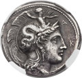 Ancients:Greek, Ancients: LUCANIA. Heraclea. Ca. 390-330 BC. AR stater (22mm, 8.20 gm, 10h)....