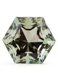 Gems:Faceted, Gemstone: Prasiolite - 25.2 Ct.. Brazil. 17.8 x 20.3 x 14.1mm. ...