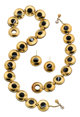 Agate, Gold, Sterling Silver Jewelry Suite, Paloma Picasso for Tiffany & Co. ... (Total: 3 Items)