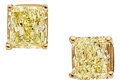 Estate Jewelry:Earrings, Fancy Yellow Diamond, Gold Earrings. ... (Total: 2 Items)