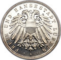 German States:Lubeck, German States: Lubeck. Free City Proof 5 Mark 1908-A PR66 CameoPCGS,...