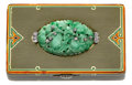 Estate Jewelry:Boxes, Art Deco Jadeite Jade, Diamond, Enamel, Gold Box, Cartier. ...