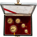China:People's Republic of China, China: People's Republic Five-piece gold Panda Proof Set 1988,... (Total: 5 coins)