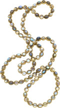 Estate Jewelry:Necklaces, Labradorite, Gold Necklace. ...