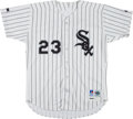 Baseball Collectibles:Uniforms, 1992 Robin Ventura Game Worn Chicago White Sox Jersey with SheriBerto Patch. ...