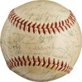 Baseball Collectibles:Others, 1956 New York Giants Team Signed Baseball....