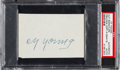 Baseball Collectibles:Others, 1940's Cy Young Signed Cut. ...