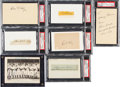 Baseball Collectibles:Others, 1930's-50's Baseball Hall of Famers Signed Autographs Lot of 7....