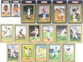 Baseball Collectibles:Others, 1980's-90's Perez-Steele Signed Postcard Lot of 17....