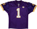 Football Collectibles:Uniforms, 2001 Gary Anderson Game Worn Minnesota Vikings Jersey with Stringer Patch....