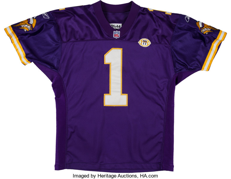 new concept 2bb25 ab4f1 2001 Gary Anderson Game Worn Minnesota Vikings Jersey with ...