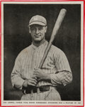 Baseball Collectibles:Photos, 1930's Lou Gehrig Signed Baseball Magazine Photograph. ...