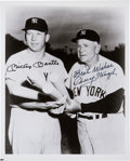 Baseball Collectibles:Photos, 1970's Mickey Mantle & Casey Stengel Signed Photograph. ...