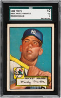 Baseball Cards:Singles (1950-1959), 1952 Topps Mickey Mantle #311 SGC 40 VG 3....