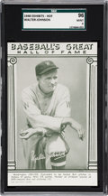 Baseball Cards:Singles (1940-1949), 1948 Baseball's Great HOF Exhibits Walter Johnson SGC 96 MINT 9 -None Higher. ...