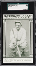 Baseball Cards:Singles (1940-1949), 1948 Baseball's Great HOF Exhibits Ty Cobb SGC 96 MINT 9 - None Higher. ...