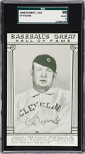 Baseball Cards:Singles (1940-1949), 1948 Baseball's Great HOF Exhibits Cy Young SGC 96 MINT 9....