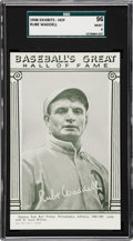 Baseball Cards:Singles (1940-1949), 1948 Baseball's Great HOF Exhibits Rube Waddell SGC 96 MINT 9 - None Higher....