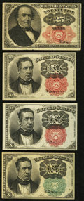 Fractional Currency:Fifth Issue, Fifth Issue 10¢ and 25¢ Fractionals.. ... (Total: 4 notes)