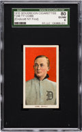 Baseball Cards:Singles (Pre-1930), 1909-11 T206 Sovereign Ty Cobb, Red Portrait SGC 80 EX/NM 6....