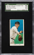 Autographs:Bats, 1909-11 T206 Sovereign Hal Chase/Throwing Dark Cap SGC 70 EX+5.5....