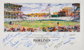 Baseball Collectibles:Others, 1983 Baseball Greats Multi Signed Poster. ...