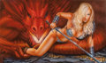 Pin-up and Glamour Art, Monte Moore (American, 20th Century). Mischief, Come and GetIt, 2011. Mixed media on board. 13.75 x 22 in. (sheet). Sig...