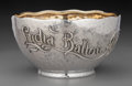 Silver Holloware, American:Plates, A Tiffany & Co. Japanesque Partial Gilt Silver Bowl withUnderplate: Lydia Ballou Almy, New York, New York, circ...