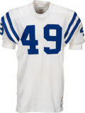 Football Collectibles:Uniforms, 1969-71 David Lee Game Worn Baltimore Colts Jersey....