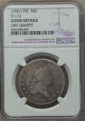 Early Half Dollars, 1795/1795 50C 2 Leaves, O-112, T-20, R.4, -- Obverse Graffiti --NGC Details. Good. PCGS Population (1/...