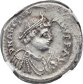Ancients:Byzantine, Ancients: Anastasius (AD 491-518). AR miliarense (22mm, 3.99 gm, 6h)....