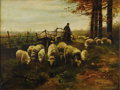 Fine Art - Painting, American:Other , WILLY HOFFMAN. Untitled (Grazing Scene), c.1909. Oil oncanvas. 16 x 21.5in.. Signed and dated lower right. ...