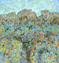 Fine Art - Painting, American:Contemporary   (1950 to present)  , CHARLES EDWARD HOLMAN (American). Landscape #1, Indian Territory New Mexico, c.1975. Oil on canvas. 32 x 30in.. Signed lower...