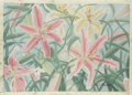 Fine Art - Painting, American:Contemporary   (1950 to present)  , ELAINE A. THUMMA. Lilies. Pastel on paper mounted to board.14 x 20in.. Signed lower right. ...