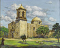Texas:Early Texas Art - Impressionists, ORVILLE A. CAMPBELL (American). San Jose Mission, San Antonio,Texas. Oil on canvas. 24 x 30in.. Signed and titled lower...