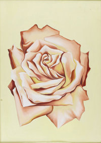 LOWELL BLAIR NESBITT (American 1933 - 1993) Light Pink Rose, 1979 Oil on canvas 33.5 x 24in. Signed verso Appraisal