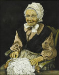American:Portrait & Genre, HOBBY (American). Lacemaker. Watercolor on paper. 20 x16in.. Signed lower right. ...