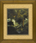 Prints:American, MAXFIELD PARRISH (American 1870 - 1966). The Fountain of Pirene, 1907. From A Wonder Book and Tanglewood Tales. Prin...